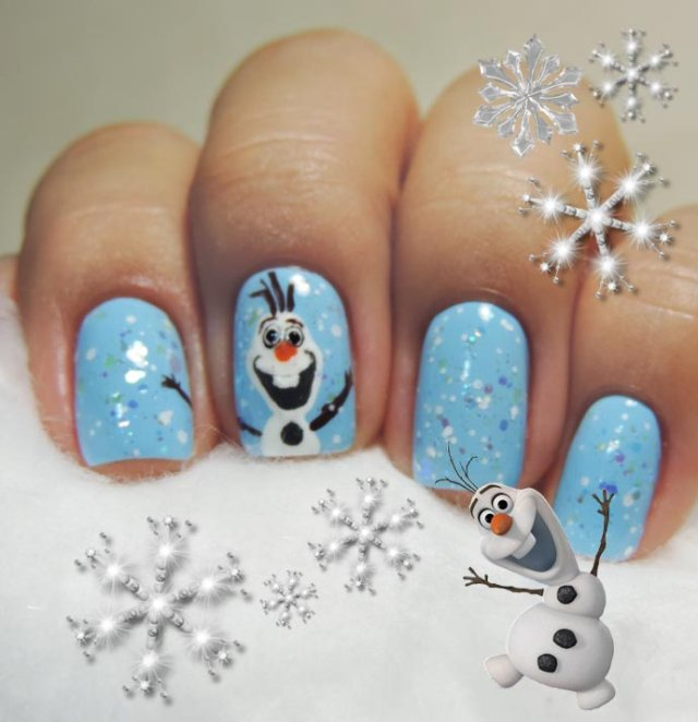 nail-art-frozen-olaf-09